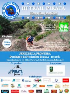 Cartel III de la Trail Pirata 2014