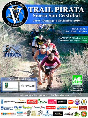 Cartel II de la Trail Pirata 2013