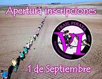 Inscripciones para la VI Trail Pirata el 1 de septiembre
